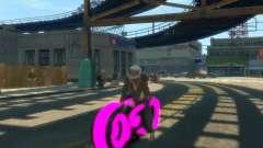 Мотоцикл из Трон (розовый неон)