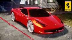 Ferrari 458 Italia Dub Edition для GTA 4