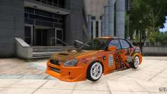Subaru Impreza WRX STi GDB Team Orange для GTA 4