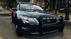 Ford Taurus 2010 Atlanta Police [ELS] для GTA 4