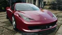 Ferrari 458 Italia 2010 v2.0 для GTA 4