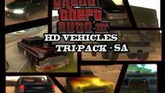 GTA3 HD Vehicles Tri-Pack III v.1.1 для GTA San Andreas