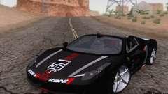 Ferrari F458 чёрный для GTA San Andreas