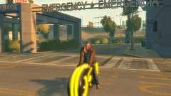Мотоцикл из Трон (желтый неон)