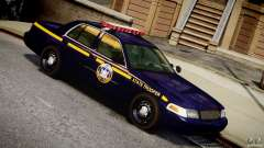 Ford Crown Victoria New York State Patrol [ELS] для GTA 4