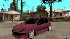 Peugeot 206 Suspen AR для GTA San Andreas