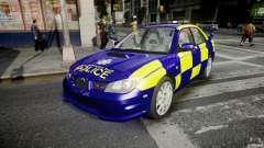 Subaru Impreza WRX Police [ELS] для GTA 4