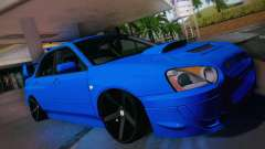 Subaru Impreza WRX STI бирюзовый для GTA San Andreas
