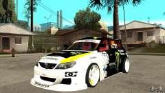 Subaru Impreza 2009 (Ken Block) для GTA San Andreas