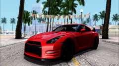 Nissan GTR Egoist 2011 (Версия с грязью) для GTA San Andreas