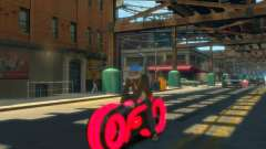 Мотоцикл из Трон (красный неон)