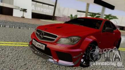 Mercedes Benz C63 AMG Black Series 2012 для GTA San Andreas
