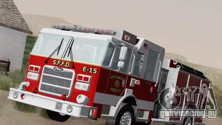 Pierce Pumpers. San Francisco Fire Departament Engine 15 для GTA San Andreas