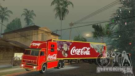 КамАЗ 54112 Новогодний для GTA San Andreas