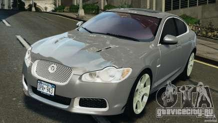 Jaguar XFR 2010 v2.0 серебристый для GTA 4
