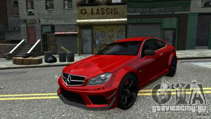 Mercedes Benz C63 AMG Black Series 2012 для GTA 4