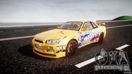 Nissan Skyline R34 GT-R Tezuka Goodyear D1 Drift для GTA 4