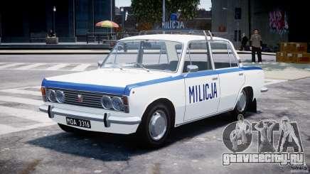 Fiat 125p Polski Milicja для GTA 4