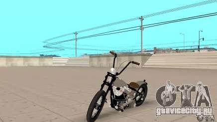 HD Shovelhead Chopper v2.1-хромовый для GTA San Andreas