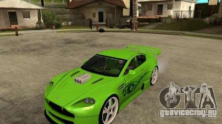 Aston Martin Vantage V8 - Green SHARK TUNING! для GTA San Andreas