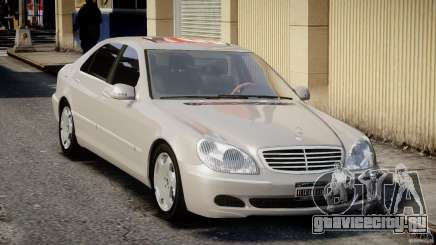 Mercedes-Benz W220 белый для GTA 4
