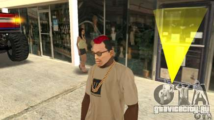 Red Mohawk and Black Stubbles для GTA San Andreas