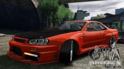 Nissan SkyLine BNR34 для GTA 4
