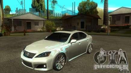 Lexus IS F 2009 для GTA San Andreas