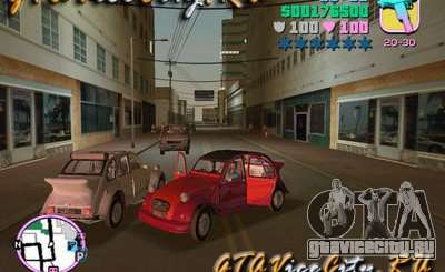 Citroen 2CV spoiler для GTA Vice City