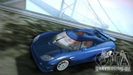 Koenigsegg CCXR Edition бирюзовый для GTA San Andreas