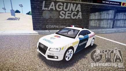 Audi S5 Hungarian Police Car white body для GTA 4