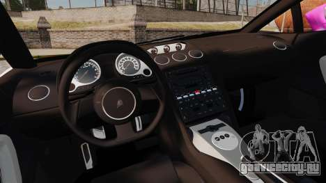 Lamborghini Gallardo 2005 [EPM] Pink Camo для GTA 4 вид изнутри