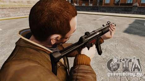 Пистолет-пулемёт MP5SD v6 для GTA 4 второй скриншот