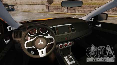Mitsubishi Lancer Evolution X для GTA 4 вид сбоку