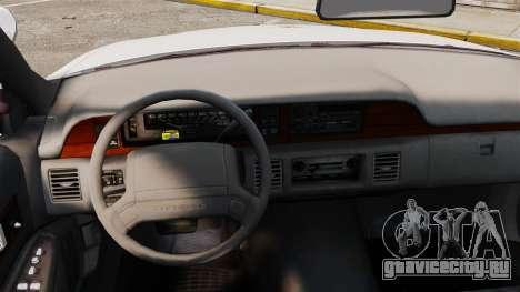 Chevrolet Caprice 1991 [ELS] v2 для GTA 4 вид изнутри