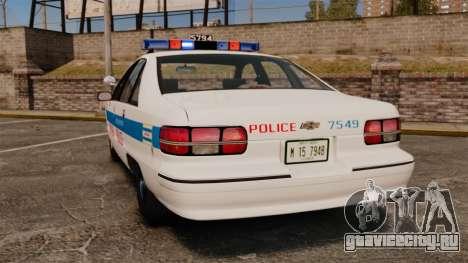 Chevrolet Caprice 1991 [ELS] v2 для GTA 4 вид сзади слева