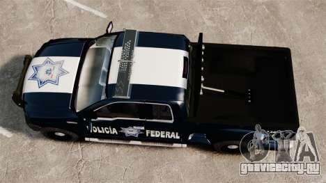 Ford F-150 De La Policia Federal [ELS & EPM] v3 для GTA 4 вид справа