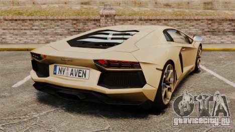 Lamborghini Aventador LP700-4 2012 v2.0 для GTA 4 вид сзади слева