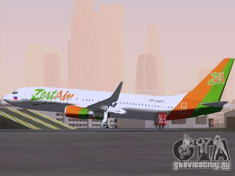 Boeing 737-800 Zest Air для GTA San Andreas вид сзади