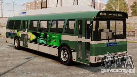 Новая реклама на автобус для GTA 4 вид сзади слева