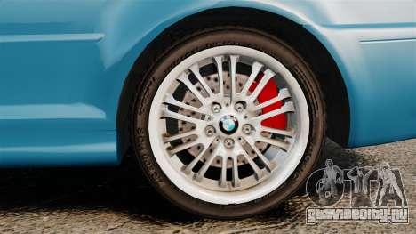 BMW M3 E46 для GTA 4 вид сзади