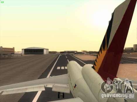 McDonell Douglas DC-10 Philippines Airlines для GTA San Andreas вид сверху