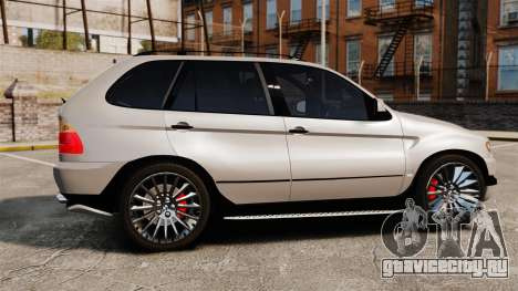 BMW X5 4.8iS v2 для GTA 4 вид слева