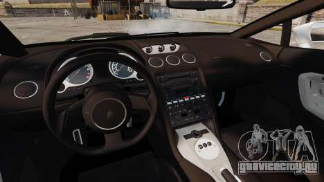 Lamborghini Gallardo 2005 [EPM] Italian для GTA 4 вид изнутри