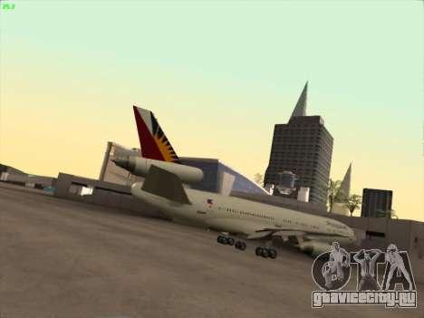 McDonell Douglas DC-10 Philippines Airlines для GTA San Andreas вид справа