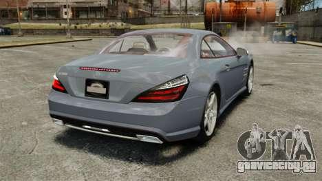 Mercedes-Benz SL500 2013 для GTA 4 вид сзади слева