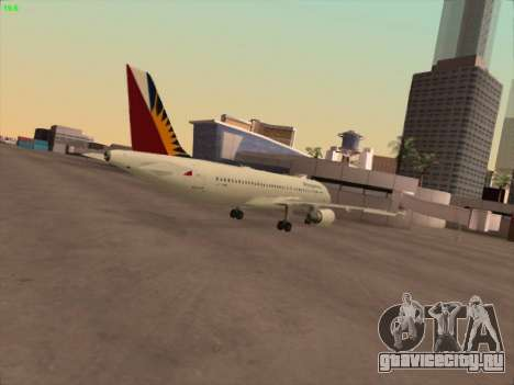 Airbus A320-211 Philippines Airlines для GTA San Andreas вид справа
