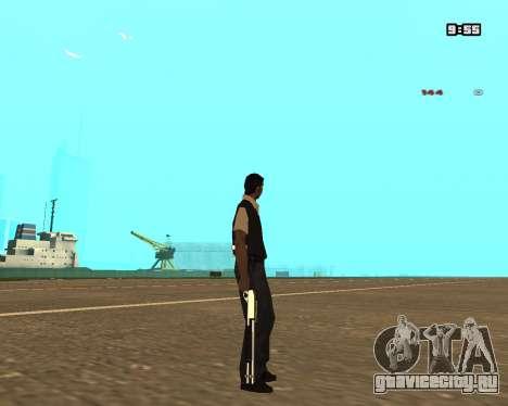 White Chrome Shotgun для GTA San Andreas