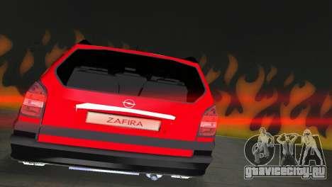Opel Zafira для GTA Vice City вид сзади