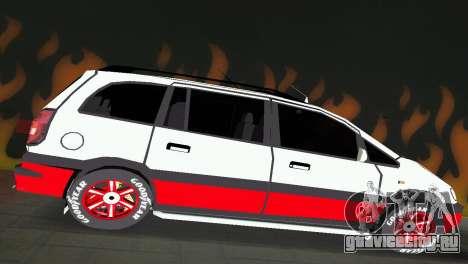 Opel Zafira для GTA Vice City вид справа